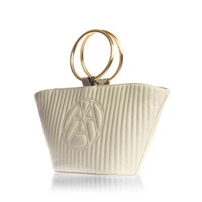 nubi-logo tote bag cream ivory